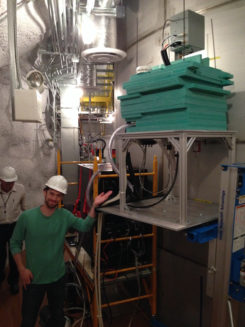 Neutron generator outside of the LUX water tank